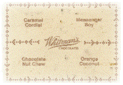 A drawing of a box of Whitman's Chocolates.