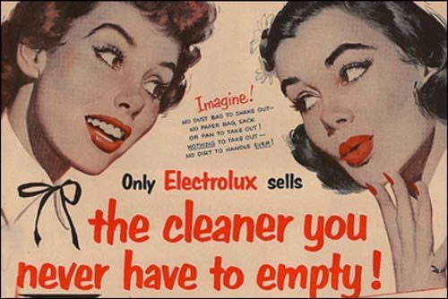 An advertisement for Electrolux vacuum list.