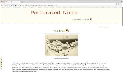 My blog, Perforated Lines