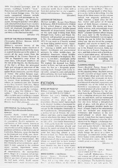 A scan of the full page of Publishers Weekly, containing my best review.