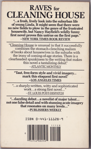 The back of the US softcover edition, with praise.